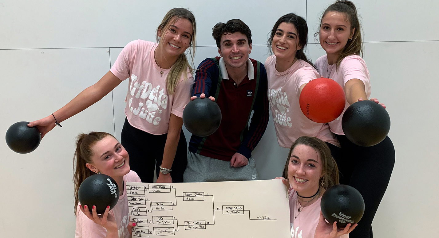 2/8/20 Tri Delts win War of Roses Dodgeball